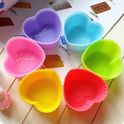 Iuhan 12PC Kitchen Craft Cake Cup Chocolate Liners Baking Cupcake Cases Muffin Cake(Color Random)