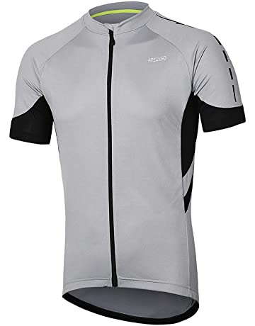 ARSUXEO Men s Short Sleeves Cycling Jersey Bicycle MTB Bike Shirt 636 33b7a8cd3