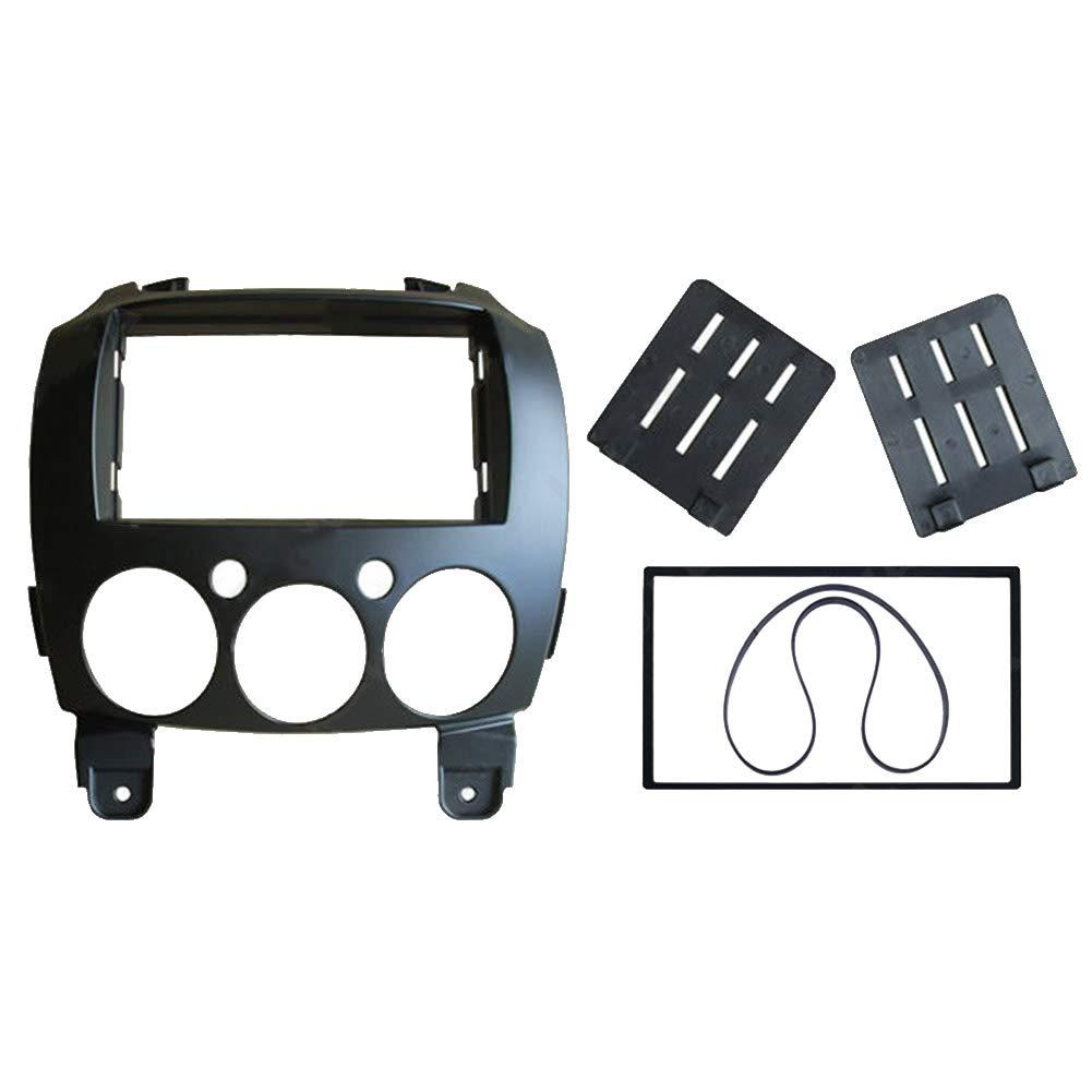 Metermall Fa/çade autoradio 2 DIN pour Mazda 2 2010 Demio 2007 Kit de Montage