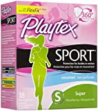 Health & Personal Care : Playtex Sport Tampons - Super - 18 ct