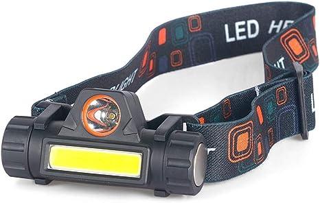 LKXZYX Linterna Frontal LED Linterna de Cabeza USB Recargable Luz ...