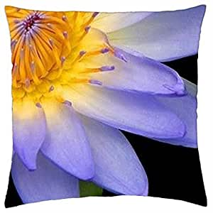 BLUE FLOWER - Throw Pillow Cover Case (18