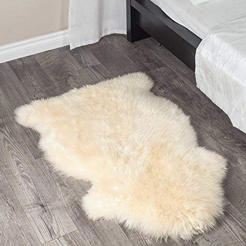 A-STAR Genuine Sheepskin Single Rug - 2x3 Sheep Skins (Champagne)