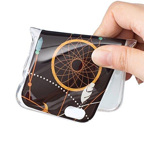 GR iPhone 6 Plus & 6s Plus Soft TPU Noctilucent Pflaumenmuster IMD Workmanship Rückseiten Cover Case ( SKU : Ip6p0938k )
