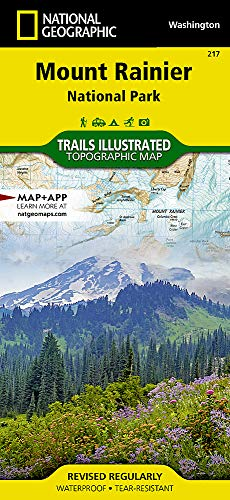 Mount Rainier National Park (National Geographic Trails Illustrated - Rainier Trail Mt National Park