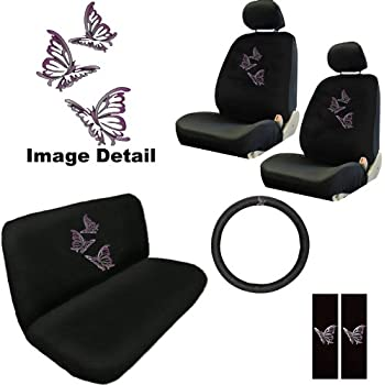 BDK Purple Butterfly Design Seat Covers For Car SUV