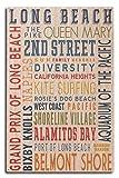Long Beach, California - Typography (10x15 Wood Wall Sign, Wall Decor Ready to Hang)