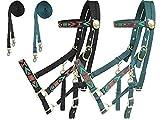 Derby Originals Padded Nylon Halter Bridle Cob Combo with Reins Aztec