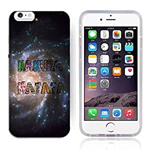 """Africa Ancient Proverb HAKUNA MATATA Color Accelerating Universe Star Design Pattern HD Durable Hard Plastic Case Cover for iPhone 6 (4.7"""") hjbrhga1544"""