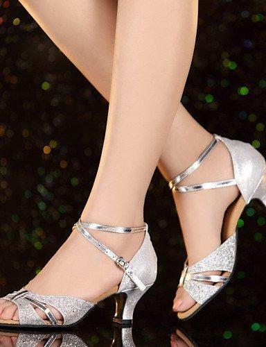 ShangYi Cubain Personnalisables Gold Chaussures Autre Verni Cuir de Jazz Talon Cuir Non danse Latine w0fwrAxUq
