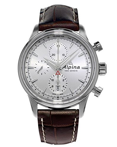 Alpina Alpiner Chronograph Automatic Sunray Dial Brown Leather Mens Watch AL-750S4E6