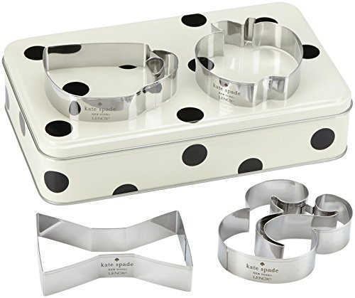 KSNY All in Good Taste Gift Storage Tin with Cookie Cutter, Aluminum ()
