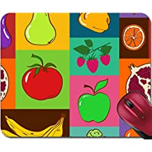 Liili Mousepad ID: 24697306 Colorful geometric seamless pattern of fruits and vegetables