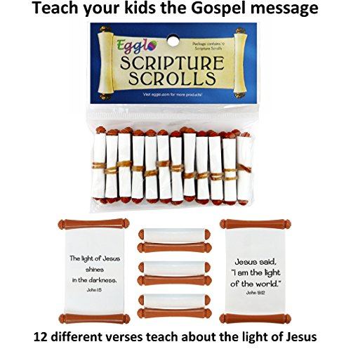 Egglo Scripture Scrolls (12) - Fun Religious/ Christian Kid's Toys for Sunday School Prizes or Party Favors -