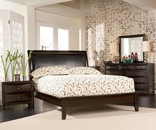 Coaster Transitional Wood Queen Bed with Deep Cappuccino Finish 200410Q