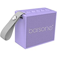 Barsone Portable Waterproof Bluetooth Speaker with 5W Audio Driver - Waterproof & Rechargeable (Purple)