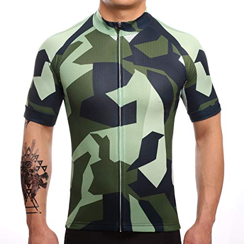 - Men's Cycling Jersey Camouflage Short Sleeve Summer Bicycle Clothing Quick Dry MTB Jersey Cycling Shirts (4XL)