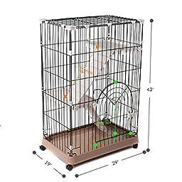 Favorite 3-Tier Standard Cat Metal Crate Cage, Single Door, 29\