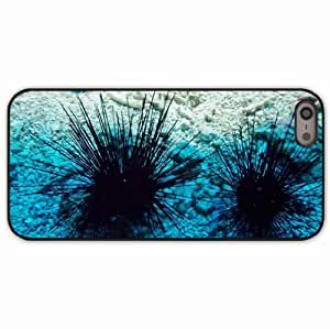 iPhone 5 5S Black Hardshell Case sea urchin aquarium rocks Desin Images Protector Back Cover