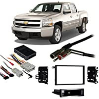 Fits Chevy Silverado Pickup 2003-2006 Double DIN Harness Radio Dash Kit