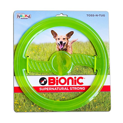 BIONIC Toss N' Tug Durable Tough Medium Fetch Toy for - Frisbee Dog