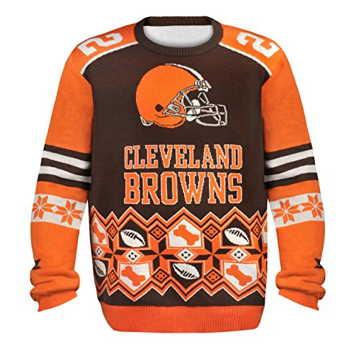 Cleveland Browns Christmas Sweater.Cleveland Browns Ugly Christmas Sweaters