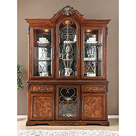Image Unavailable - Amazon.com - Furniture Of America Eleanora China Cabinet In Brown