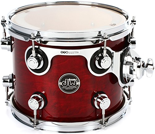 DW Performance Series Mounted Tom - 8'' x 10'' Cherry Stain Lacquer