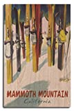 Lantern Press Mammoth Mountain, California - Colorful Skis (10x15 Wood Wall Sign, Wall Decor Ready to Hang)