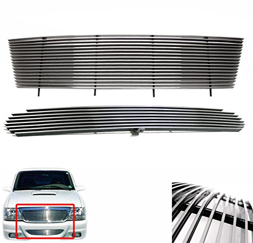 ZMAUTOPARTS Ford Ranger 2Wd 4Wd Front Upper + Bumper Billet Grille Grill Combo 2Pcs (4wd Bumper Billet Grille)