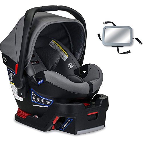 Britax B-Safe Ultra Infant Car Seat with Back Seat Mirror – Gris