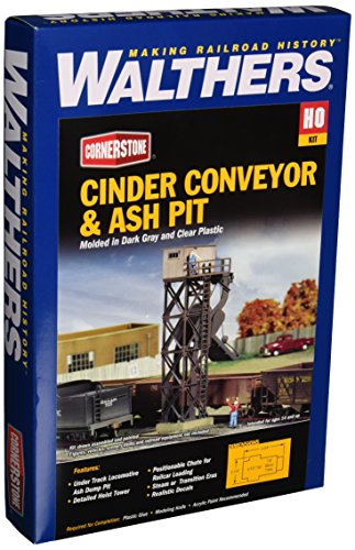 Walthers Cornerstone Series Kit HO Scale Cinder Conveyor & Ash Pit (Conveyor Kit)