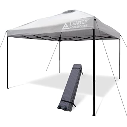Amazon.com  Leader Accessories 10\u0027x10\u0027 Instant Canopy Pop Up Canopy Straight Wall Including Wheeled Carry Bag ... (Silver)  Garden \u0026 Outdoor  sc 1 st  Amazon.com & Amazon.com : Leader Accessories 10\u0027x10\u0027 Instant Canopy Pop Up Canopy ...