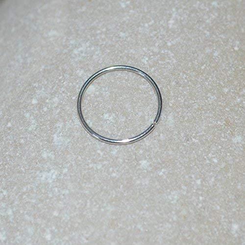 Tragus Hoop Cartilage Ring 24 Gauge Nose Hoop Daith Earring Septum