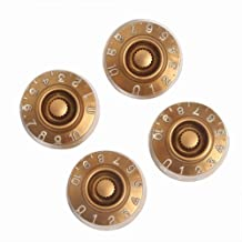 4pcs Speed Control Knobs Gold for Gibson Les Paul Replacement Electric Guitar Parts