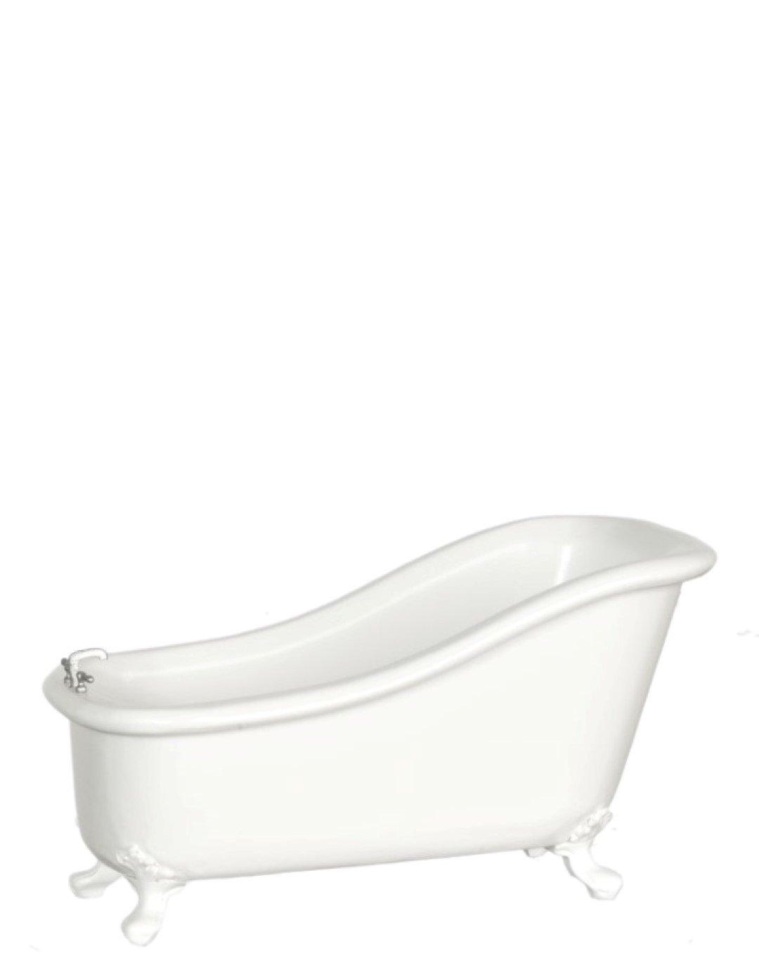 Casa De Muñecas Blanco Avalon bañera tubo The Platino Colección Muebles de baño