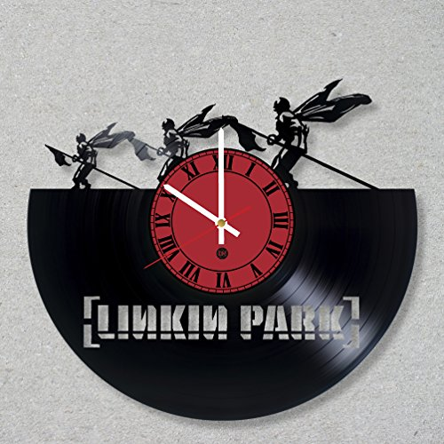 Clock Bennington (Vinyl Record Wall Clock Linkin Park Music Rock Bennington Numb Chester Hybrid Theory decor unique gift ideas for friends him her boys girls World Art Design)