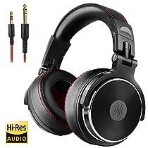 OneOdio DJ モニターヘッドホン pro-30 オーバーイヤー ヘッドフォン 密閉型 低音強化 着脱式ケー...