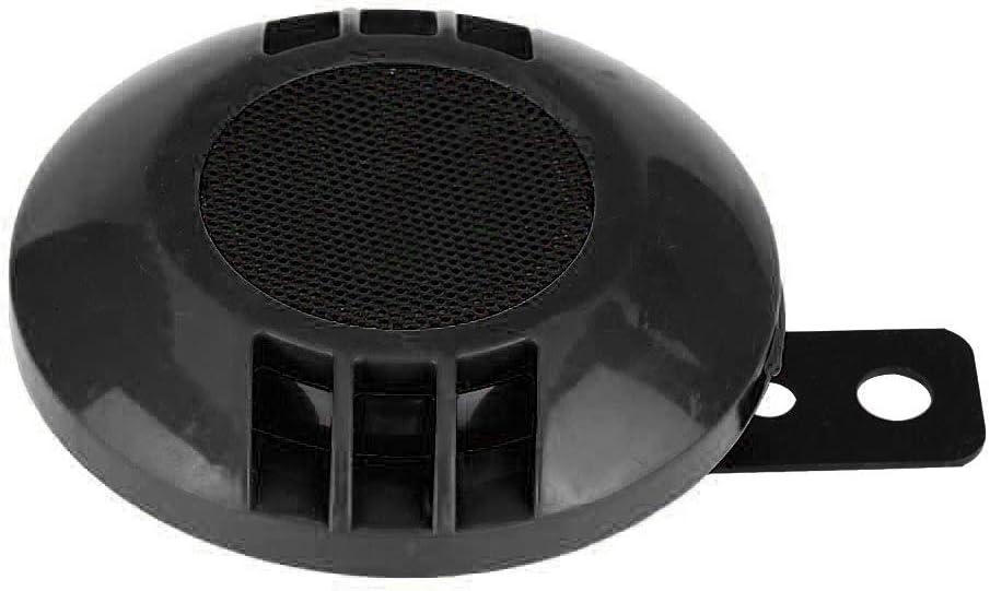 DEALPEAK Universal Black 110dB 430HZ Electric Loudspeaker Round Loud Snail Horn Speaker for 12V Motorcycle Car Boat
