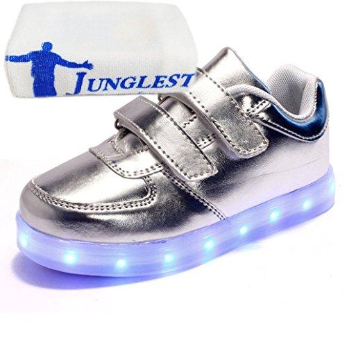 [Present:kleines Handtuch]JUNGLEST® 7 Farben LED Kinder, Jungen, Mädchen führte leuchten Trainer Sneakers Turnschuhe Sportschuh c17
