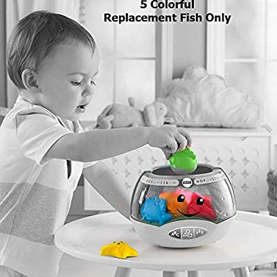 Replacement Parts for Magical Lights Fishbowl - Fisher-Price Laugh and Learn Magical Lights Fishbowl Baby Tactile Toy DYM75~5 Colorful Replacement Fish : Baby