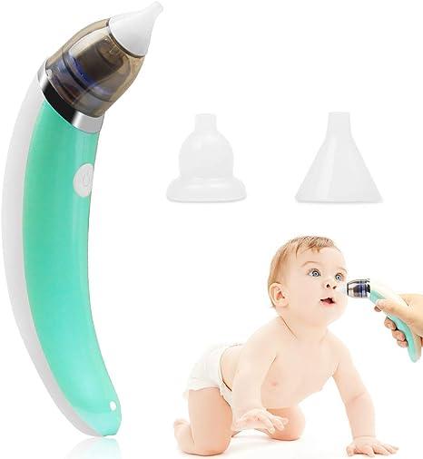 Aspirador Nasal Bebes Electrico, carga USB con 5 niveles de succión 2 tamaños Puntas de silicona, Portátil Aspirador Nasal para Recién Nacidos: Amazon.es: Bebé