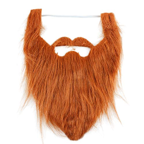 Amyove Fake Beard Whiskers, Men Halloween Costume Props Whiskers, Full Beard Party Decoration, -