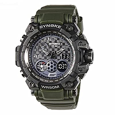 Auspicious beginning Adult's Sports Multi-functions Digital Electronic Watch For Men