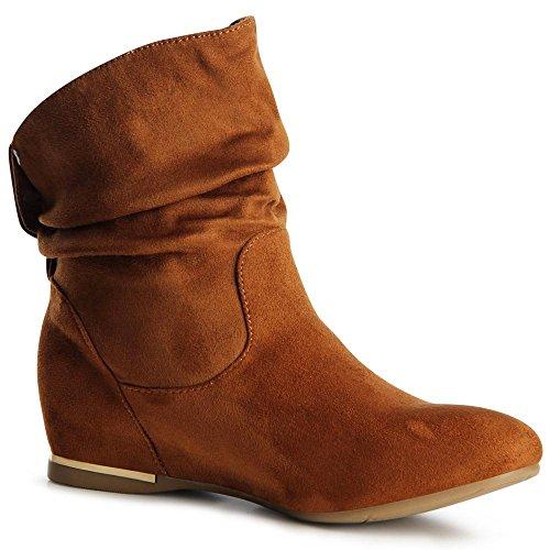 topschuhe24 - Botas para mujer Beige Camel