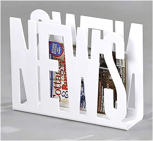 /de revistas Peri/ódicos Robuste Modern Design/ Meubletmoi revistero News Blanco/ /Times Color Blanco