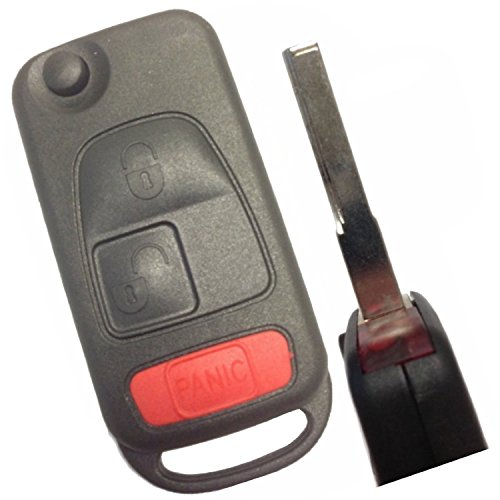 Replacement Keyless Remote Fob Key Shell Case For Mercedes-Benz C230C280 C43 AMG CL500 CL600 CLK320 CLK430 E300 E320 E430 E55 AMG ML320 ML430 ML55 AMG S320 S420 S500 S600 SL500 SL600 SLK230 ()