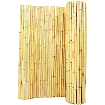 """Backyard X-Scapes BAMA-BF03 Natural Rolled Bamboo Fence, 1"""" D x 3' H x 8' L"""
