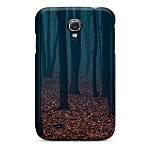 Hard Plastic Galaxy S4 Case Back Cover,hot Blue Autumn Case At Perfect Diy