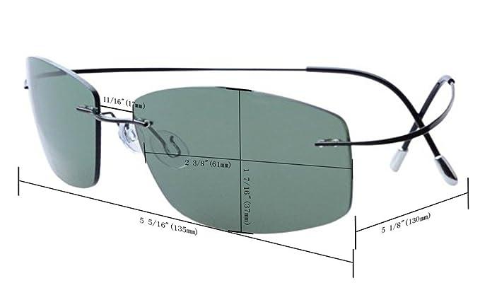 Eyekepper Randlos Titan Rahmen polarisierten Sonnenbrillen G15 Lens xuy0JKl
